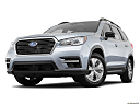 2020 Subaru Ascent 8- Passenger, front angle view, low wide perspective.