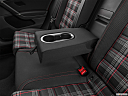 2020 Volkswagen Golf GTI 2.0T S, rear center console with closed lid from driver's side looking down.