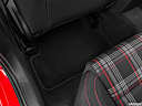 2020 Volkswagen Golf GTI 2.0T S, rear driver's side floor mat. mid-seat level from outside looking in.