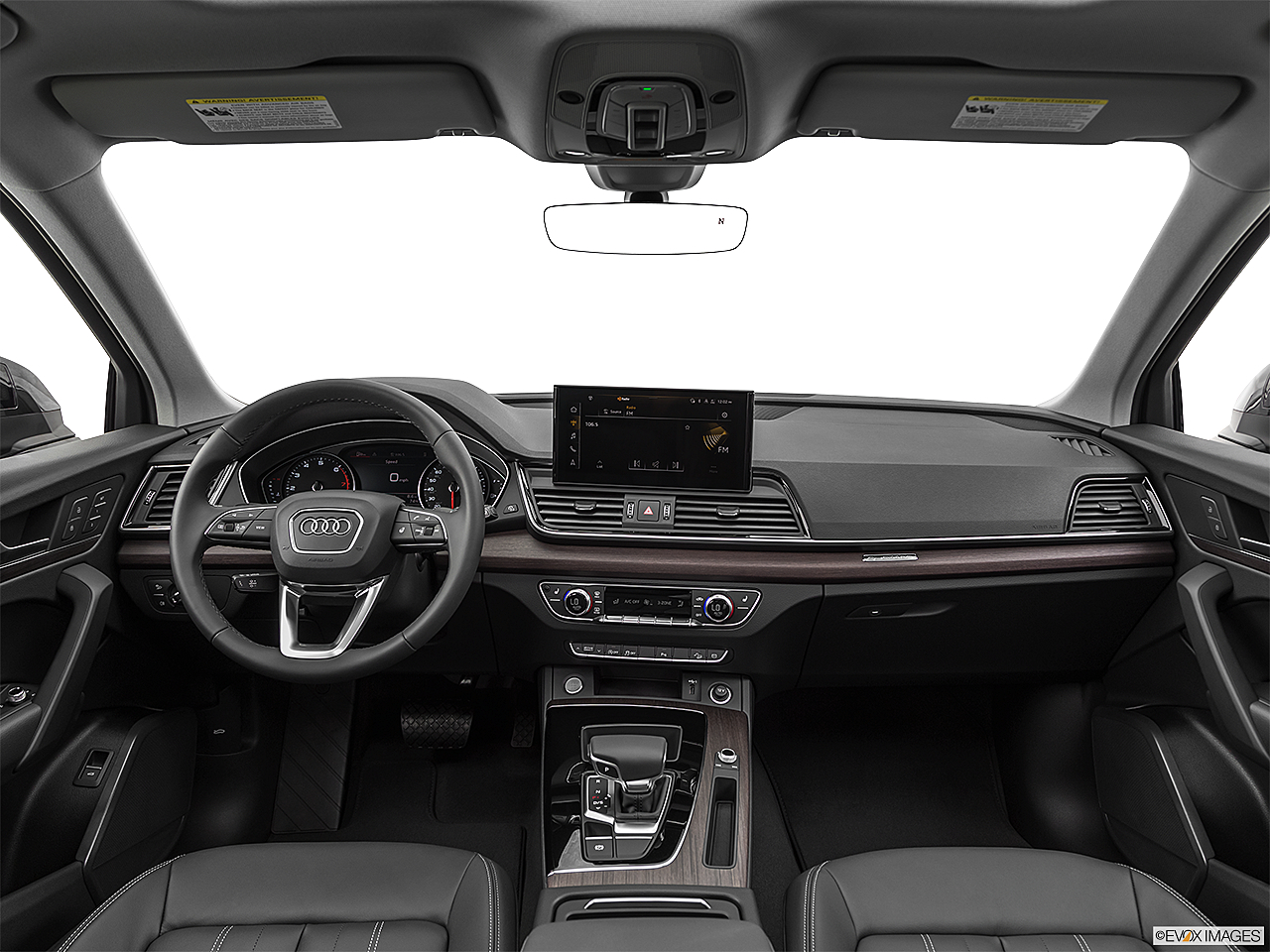 2021 Audi Q5 Premium 45 TFSI, centered wide dash shot
