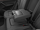 2021 Audi Q5 Premium 45 TFSI, rear center console with closed lid from driver's side looking down.