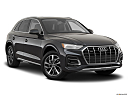 2021 Audi Q5 Premium 45 TFSI, front passenger 3/4 w/ wheels turned.