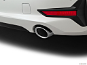 2021 BMW 3-series 330i, chrome tip exhaust pipe.