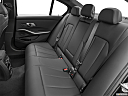 2021 BMW 3-series 330e, rear seats from drivers side.