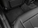2021 BMW 3-series 330e, rear driver's side floor mat. mid-seat level from outside looking in.