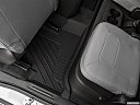 2021 Chevrolet Colorado WT, rear driver's side floor mat. mid-seat level from outside looking in.