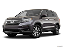 2021 Honda Pilot EX-L, front angle medium view.