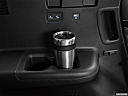 2021 Hyundai Palisade Limited, third row side cup holder with coffee prop.