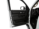 2021 RAM 1500 Tradesman, inside of driver's side open door, window open.