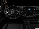 "2021 RAM 1500 Tradesman, centered wide dash shot - ""night"" shot."