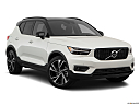 2021 Volvo XC40 T5 AWD R-Design, front passenger 3/4 w/ wheels turned.
