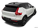 2021 Volvo XC40 T5 AWD R-Design, rear 3/4 angle view.