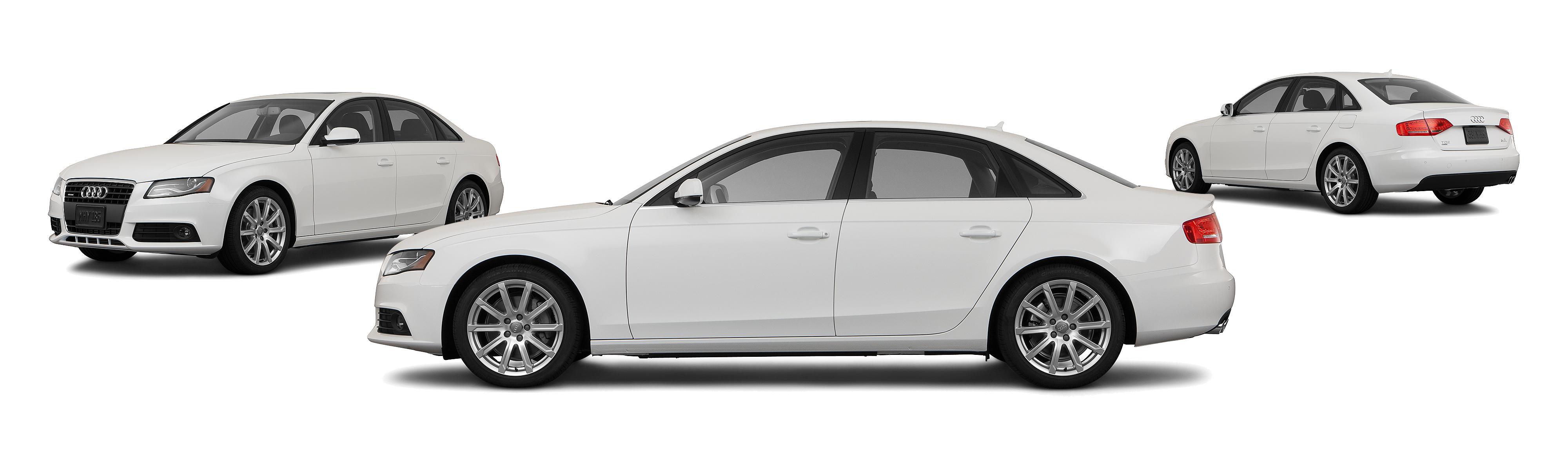 2011 Audi A4 Awd 20t Quattro Premium Plus 4dr Sedan 8a Research White Black Rims Groovecar