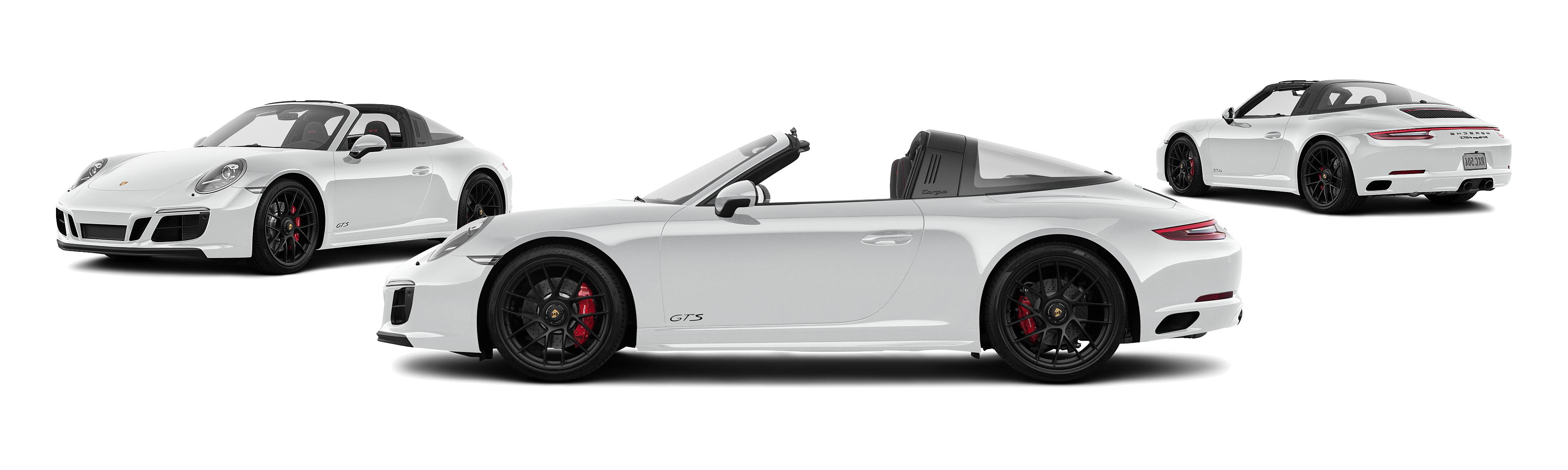 2018 porsche 911 awd targa 4 gts 2dr convertible carrara white metallic posite large