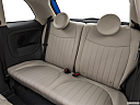 2018 Fiat 500 Lounge, rear seats from drivers side.