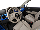 2018 Fiat 500 Lounge, interior hero (driver's side).