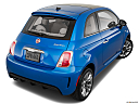2018 Fiat 500 Lounge, rear 3/4 angle view.