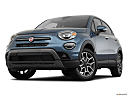 2019 Fiat 500X Trekking, front angle view, low wide perspective.