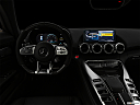 "2020 Mercedes-Benz AMG GT C, centered wide dash shot - ""night"" shot."