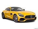 2020 Mercedes-Benz AMG GT C, front passenger 3/4 w/ wheels turned.