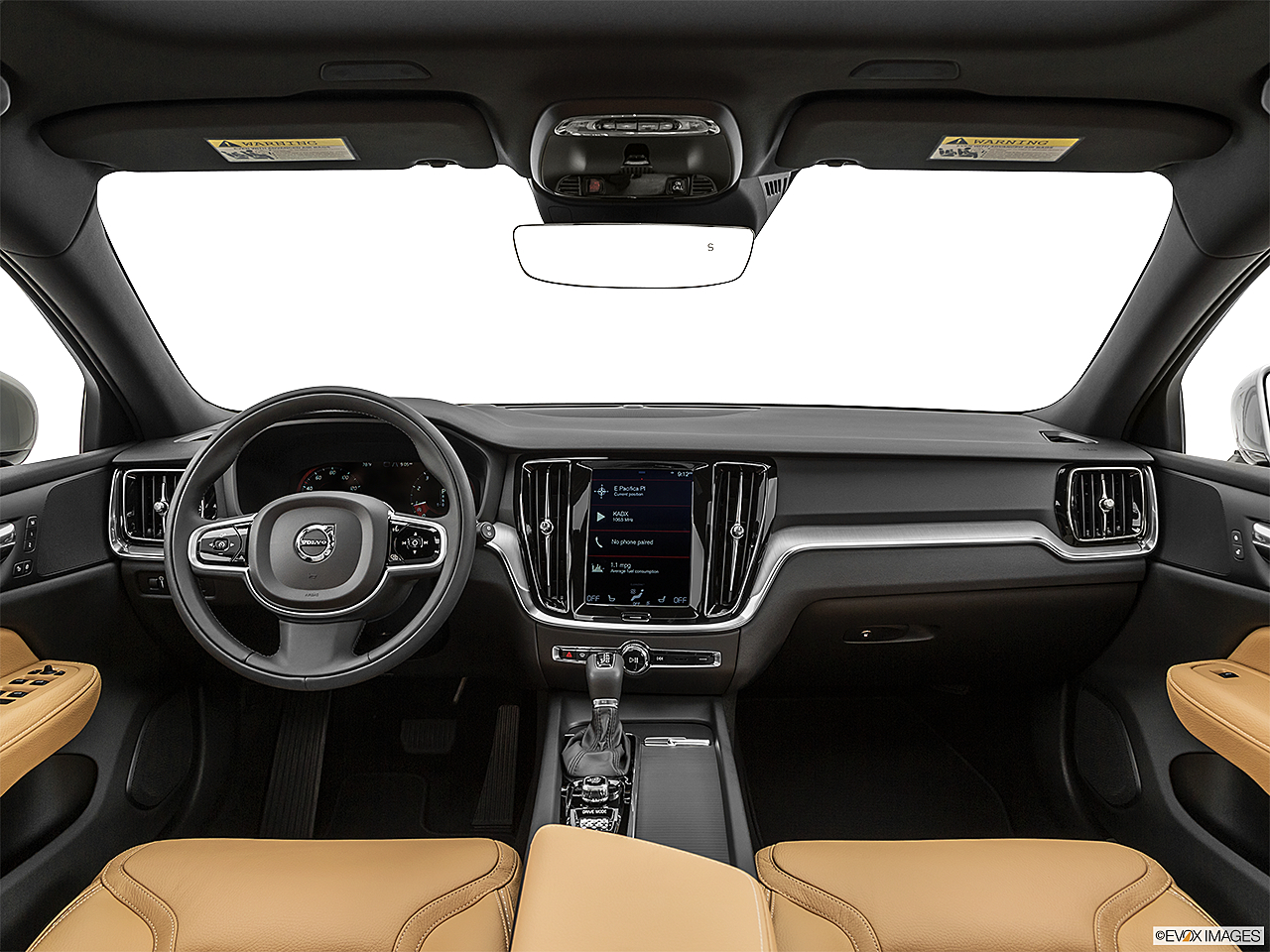 2020 Volvo V60 Cross Country T5 AWD, centered wide dash shot