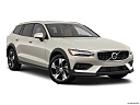 2020 Volvo V60 Cross Country T5 AWD, front passenger 3/4 w/ wheels turned.